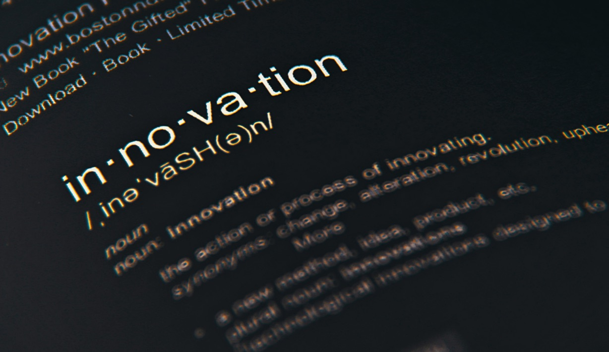 Dictionary Opened to Definition of Innovation